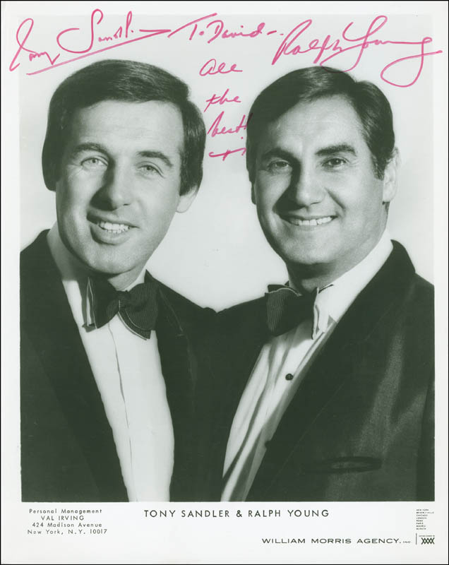 Image 1 for Sandler & Young - Autographed Inscribed Photograph co-signed by: Sandler & Young (Tony Sandler), Sandler & Young (Ralph Young) - HFSID 293440