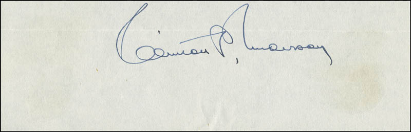 Image 1 for Clinton P. Anderson - Autograph - HFSID 293625