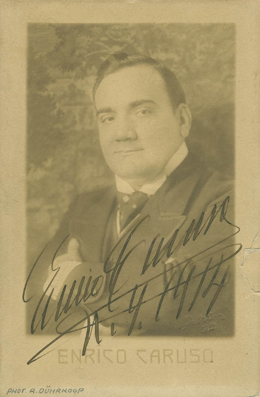 Image 1 for Enrico Caruso - Autographed Signed Photograph 1914 - HFSID 293752