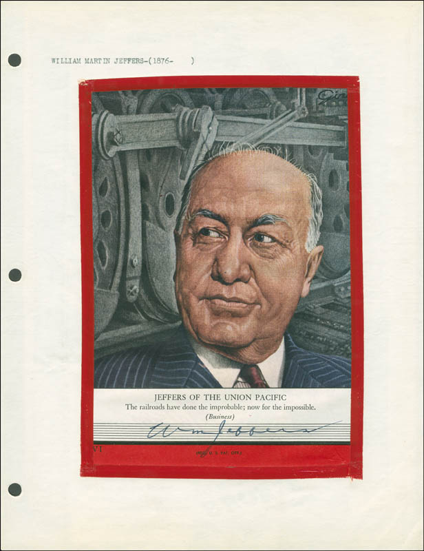 Image 1 for William M. Jeffers - Magazine Cover Signed - HFSID 293772