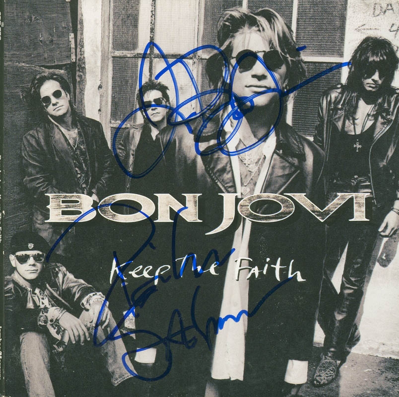 Image 1 for Bon Jovi - Compact Disc Case Signed co-signed by: Bon Jovi (Jon Bon Jovi), Bon Jovi (Richie Sambora) - HFSID 293801