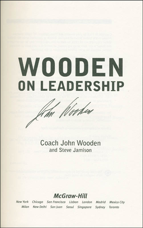 Image 1 for John Wooden - Book Signed - HFSID 293820