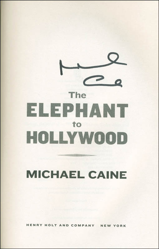 Image 1 for Michael Caine - Book Signed - HFSID 293843