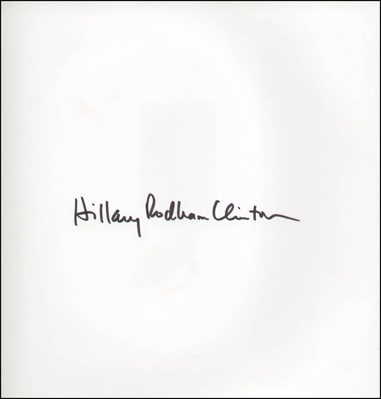 Image 1 for First Lady Hillary Rodham Clinton - Book Signed - HFSID 293862