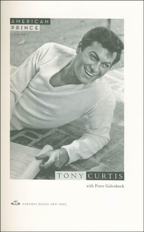 Image 4 for Tony Curtis - Book Signed - HFSID 293866