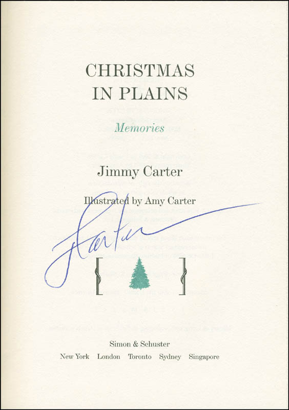 Image 1 for President James E. 'Jimmy' Carter - Book Signed - HFSID 293867