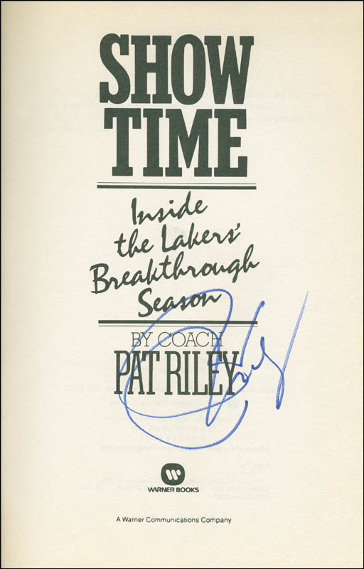 Image 1 for Pat Riley - Book Signed - HFSID 293881