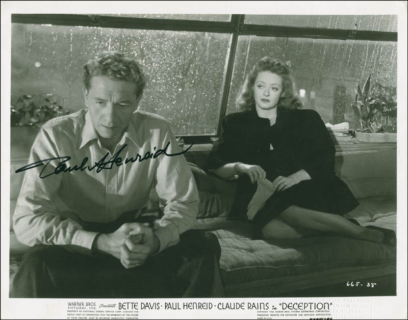 Image 1 for Paul Henreid - Autographed Signed Photograph - HFSID 293965