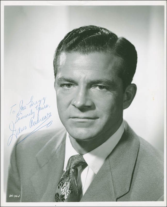 Image 1 for Dana Andrews - Autographed Inscribed Photograph - HFSID 293984