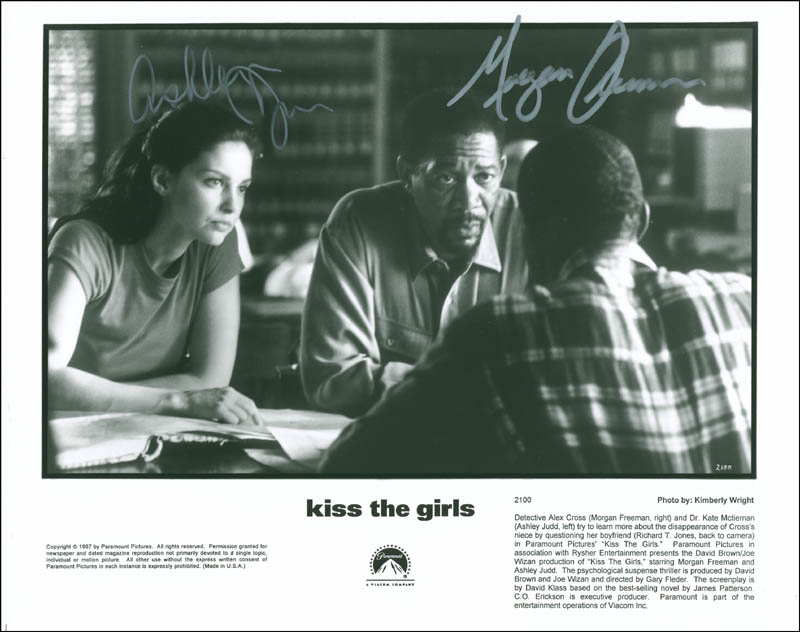 Image 1 for Kiss The Girls Movie Cast - Autographed Signed Photograph co-signed by: Morgan Freeman, Ashley Judd - HFSID 294039