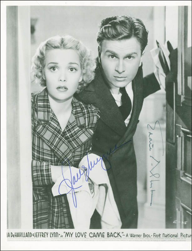 Image 1 for My Love Came Back Movie Cast - Autographed Signed Photograph co-signed by: Eddie Albert, Jane Wyman - HFSID 294052