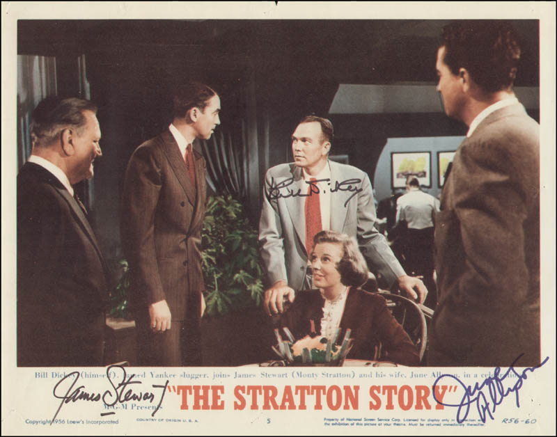 Image 6 for Stratton Story Movie Cast - Collection Circa 1948 With Bill Williams, James 'Jimmy' Stewart, Agnes Moorehead, June Allyson, Bill Dickey, Frank Morgan, Claude Jarman Jr., Sam Wood, Jack Cummings And Others - HFSID 294066