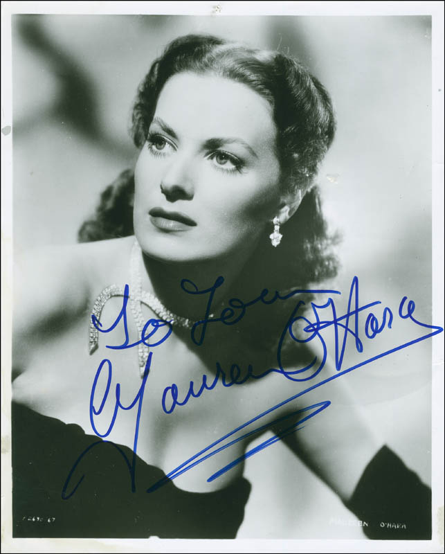 Image 1 for Maureen O'Hara - Autographed Inscribed Photograph - HFSID 294142