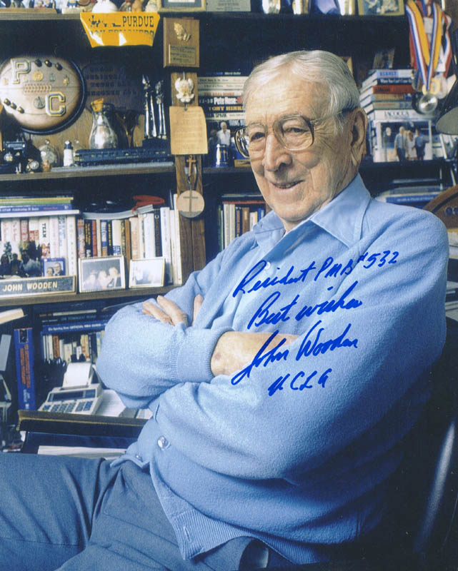Image 1 for John Wooden - Autographed Signed Photograph - HFSID 294170