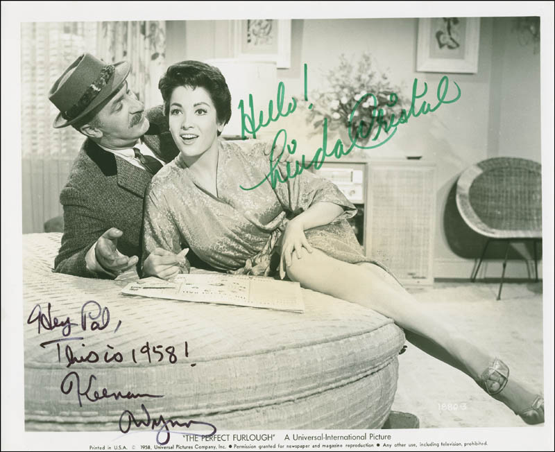 Image 1 for The Perfect Furlough Movie Cast - Autographed Signed Photograph co-signed by: Keenan Wynn, Linda Cristal - HFSID 294183