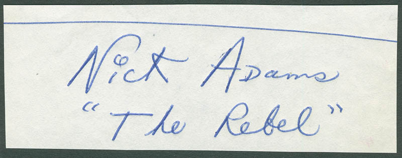Image 1 for Nick 'The Rebel' Adams - Autograph - HFSID 294197