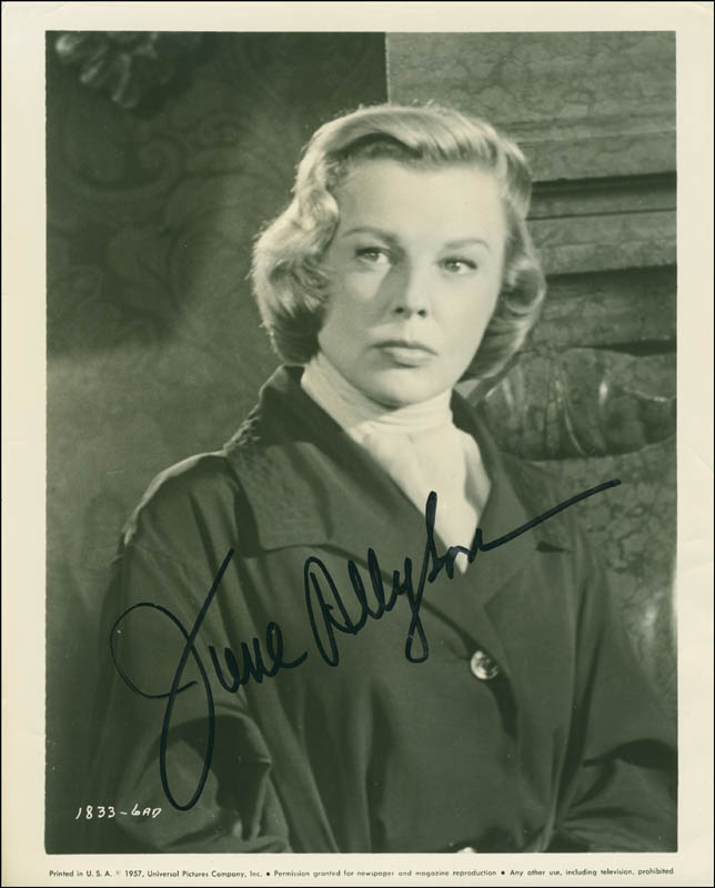 Image 1 for June Allyson - Autographed Signed Photograph - HFSID 294231