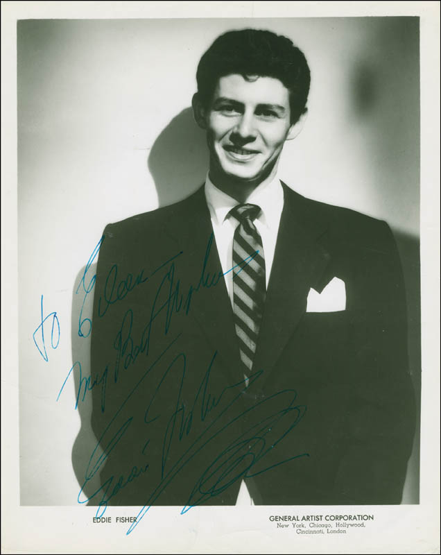 Image 1 for Eddie Fisher - Autographed Inscribed Photograph - HFSID 294290