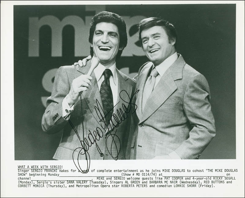 Image 1 for Sergio Franchi - Autographed Signed Photograph - HFSID 294371