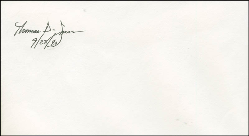 Image 1 for Thomas D. Jones - Envelope Signed 09/27/1990 - HFSID 294448