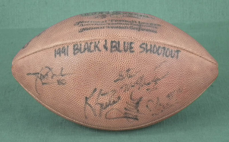 Image 1 for 1991 Black & Blue Shootout - Football Signed with co-signers - HFSID 294517