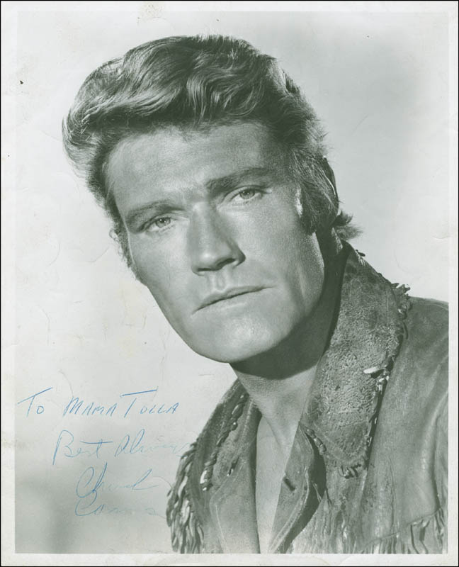 Image 1 for Chuck Connors - Autographed Inscribed Photograph - HFSID 294523