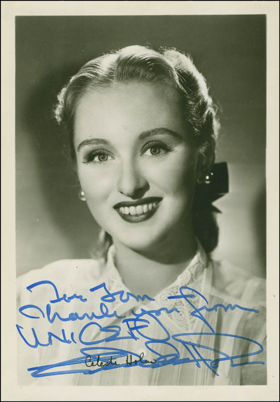 Image 1 for Celeste Holm - Autographed Inscribed Photograph - HFSID 294605