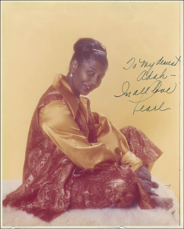 Image 1 for Pearl Bailey - Autographed Inscribed Photograph - HFSID 294640