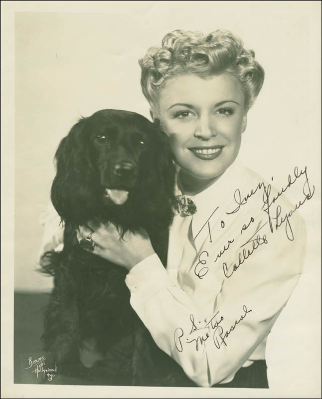 Image 1 for Collette Lyons - Autographed Inscribed Photograph - HFSID 294675