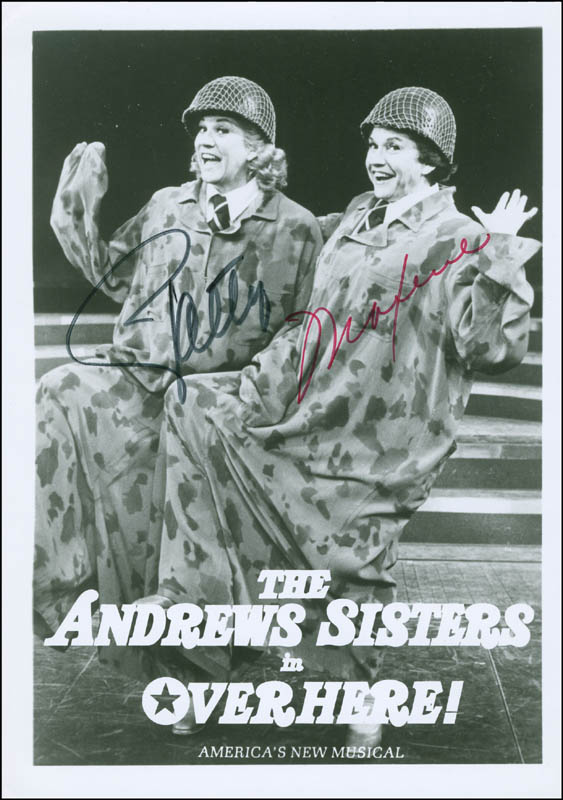 Image 1 for The Andrews Sisters - Autographed Signed Photograph co-signed by: Patty Andrews, Maxene Andrews - HFSID 294709
