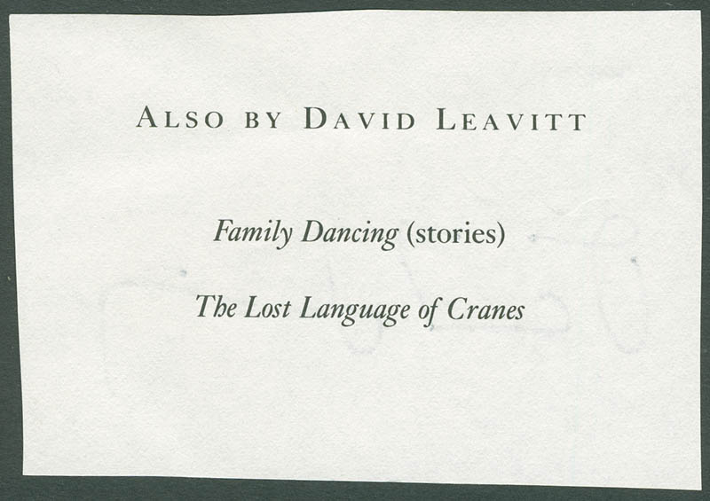 Image 3 for David Leavitt - Book Page Signed - HFSID 294735