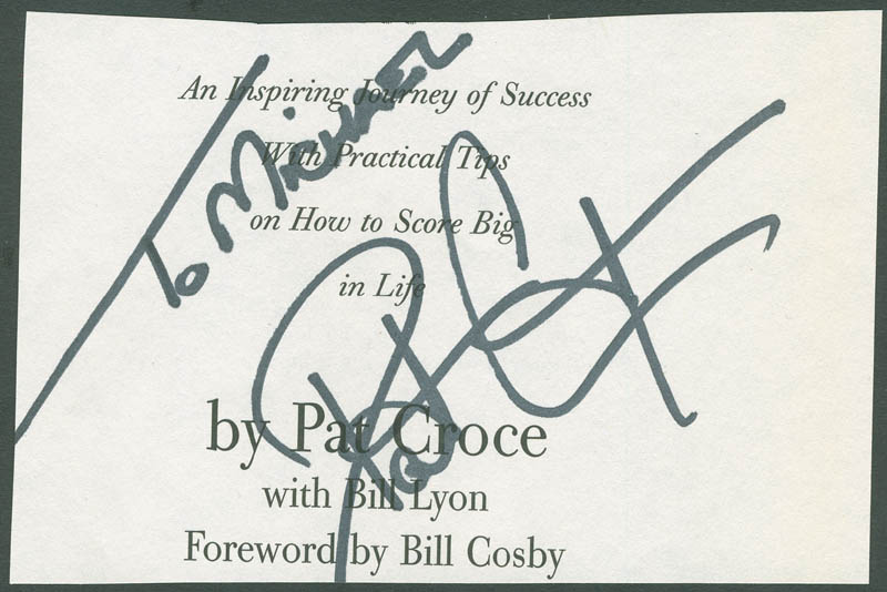 Image 1 for Pat Croce - Inscribed Signature - HFSID 294743