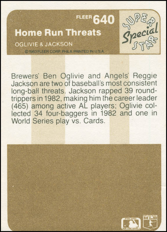 Image 3 for Reggie 'Mr. October' Jackson - Trading/Sports Card Signed - HFSID 294751