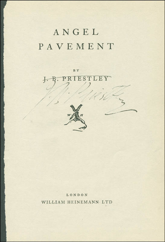 Image 1 for J.B. (John) Priestley - Book Page Signed - HFSID 294799