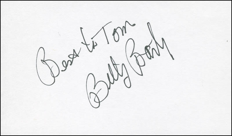 Image 1 for Billy Barty - Autograph Note Signed - HFSID 294885