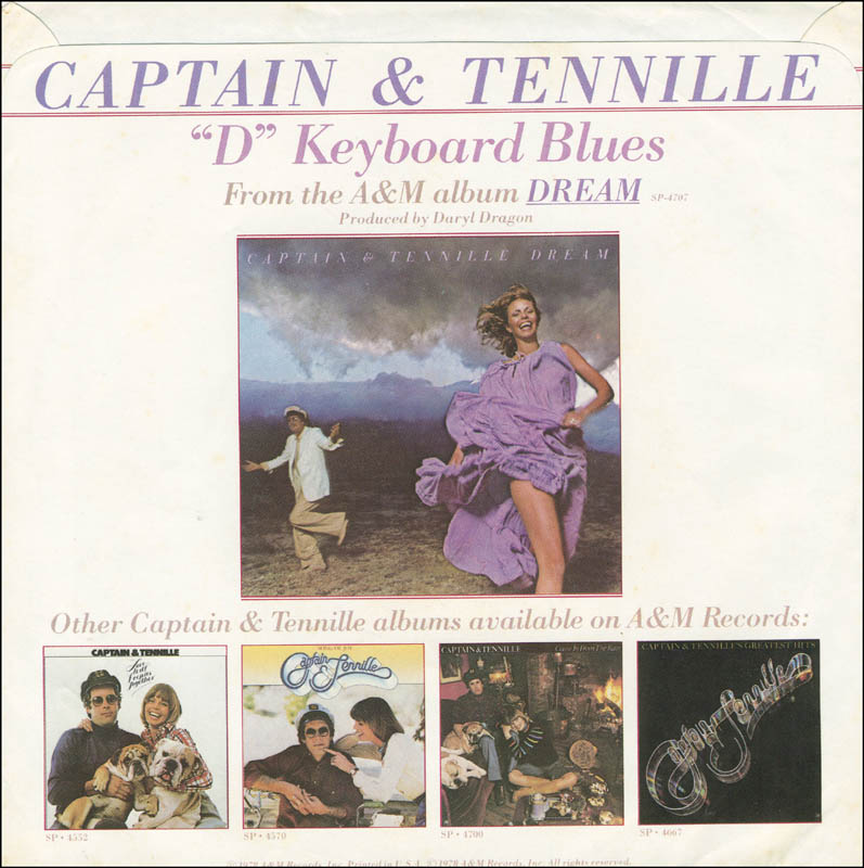 Image 3 for Captain & Tennille - Inscribed Record Album Sleeve Signed 09/1990 with co-signers - HFSID 295156