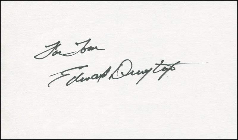 Image 1 for Edward Dmytryk - Inscribed Signature - HFSID 295308
