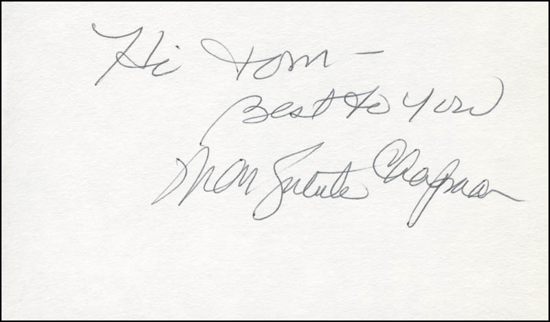 Image 1 for Marguerite Chapman - Autograph Note Signed - HFSID 295326