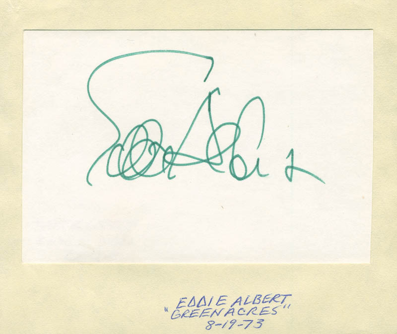 Image 1 for Eddie Albert - Autograph Circa 1973 - HFSID 295333