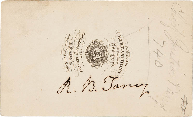 Image 1 for Chief Justice Roger B. Taney - Autographed Signed Photograph - HFSID 295426