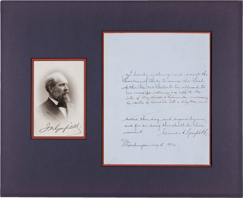 Image 3 for President James A. Garfield - Document Signed 05/05/1881 - HFSID 295428