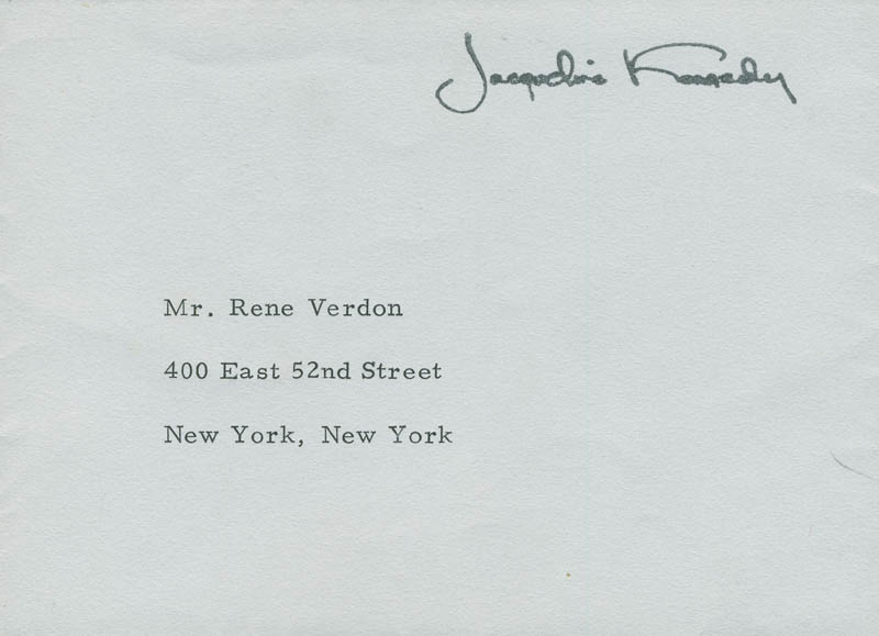 Image 3 for First Lady Jacqueline B. Kennedy - Autograph Letter Signed 07/11/1968 - HFSID 295436