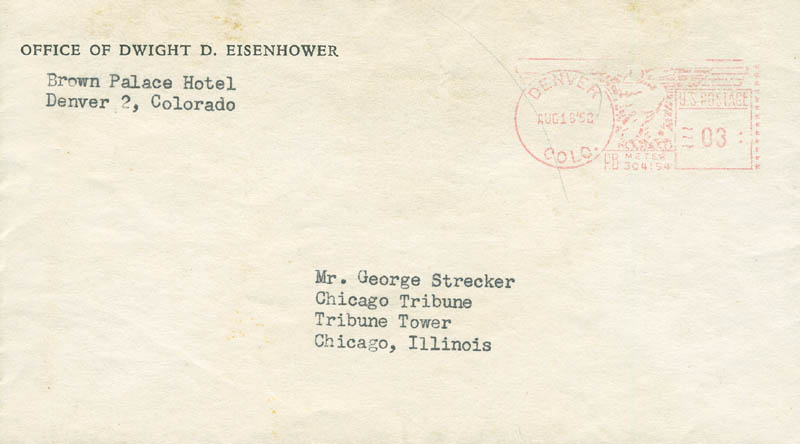 Image 3 for President Dwight D. Eisenhower - Typed Letter Signed 08/16/1952 - HFSID 295448