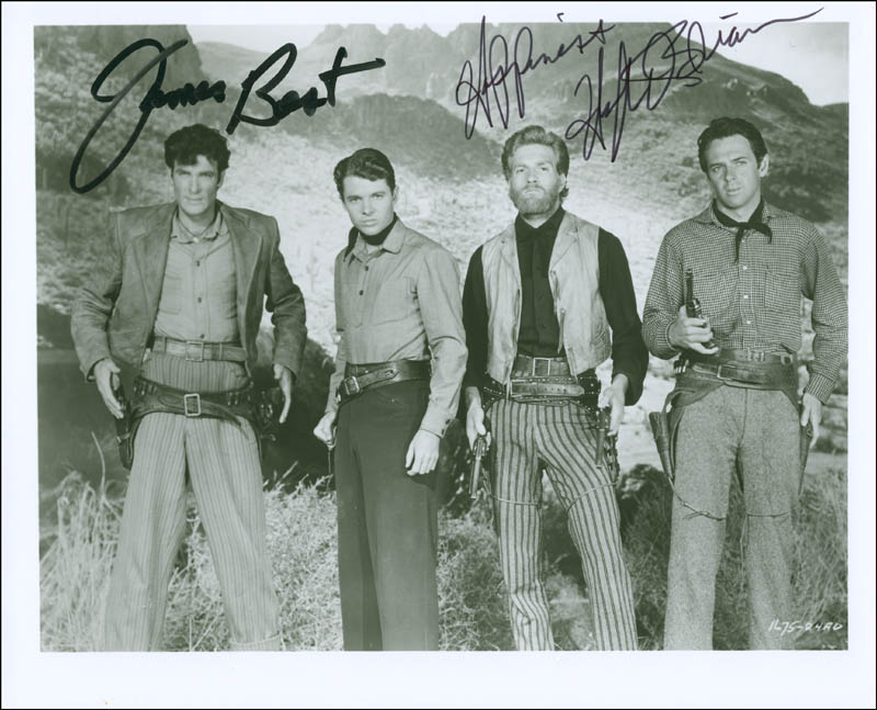 Image 1 for The Cimarron Kid Movie Cast - Autographed Signed Photograph co-signed by: Hugh O'Brian, James Best - HFSID 295622