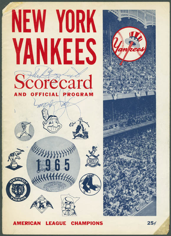 Image 1 for The New York Yankees - Program Cover Signed co-signed by: Jerry Coleman, Phil Rizzuto - HFSID 295652