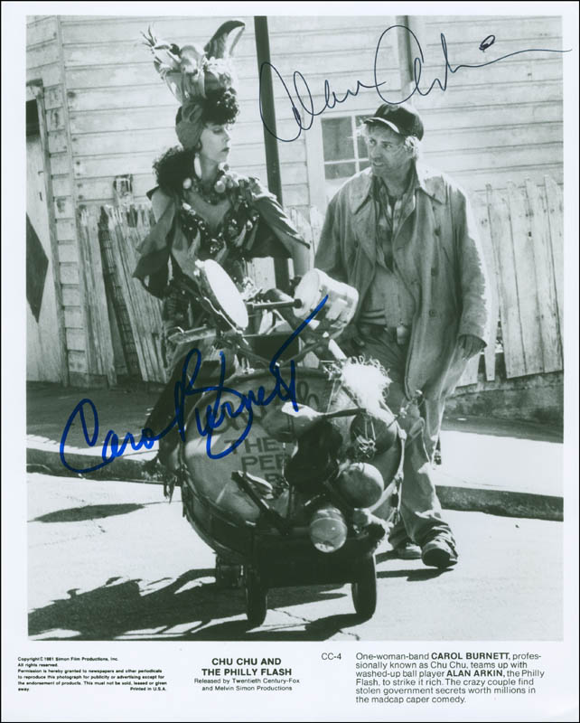 Image 1 for Chu Chu & The Philly Flash Movie Cast - Autographed Signed Photograph co-signed by: Alan Arkin, Carol Burnett - HFSID 295782