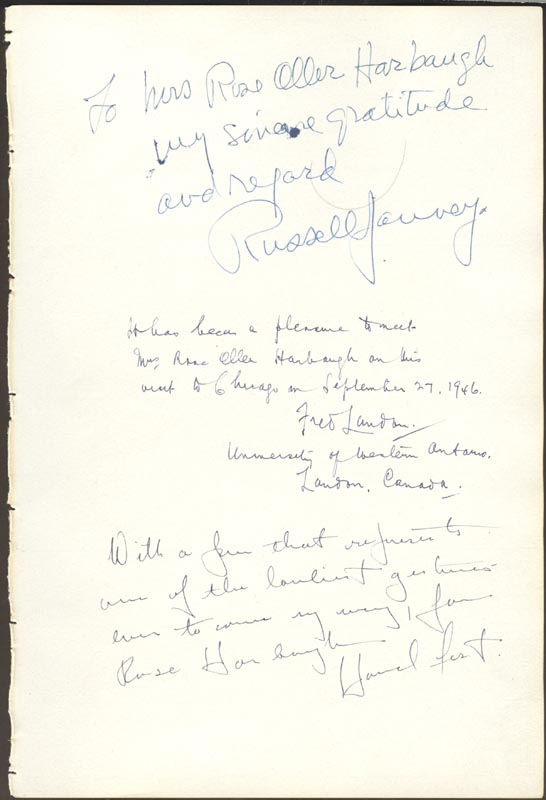 Image 3 for Elliott Roosevelt - Inscribed Signature 10/05/1946 with co-signers - HFSID 29578