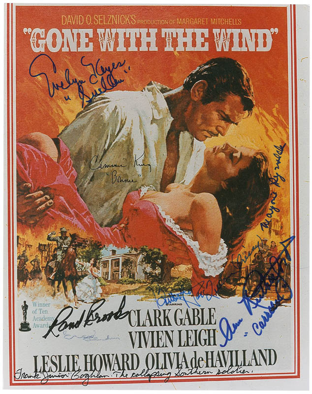 Image 1 for Gone With The Wind Movie Cast - Printed Photograph Signed In Ink with co-signers - HFSID 295806