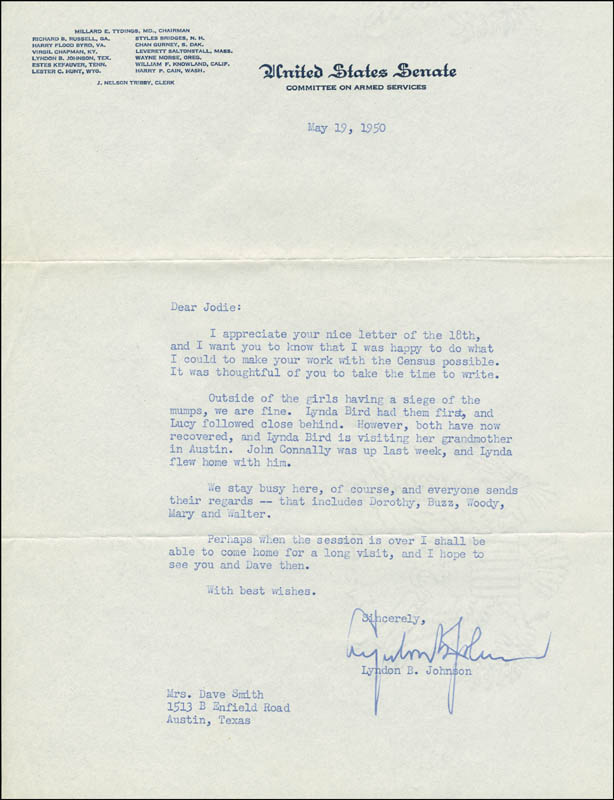 pictures of the letter b president lyndon b johnson typed letter signed 05 19 23998 | 295812
