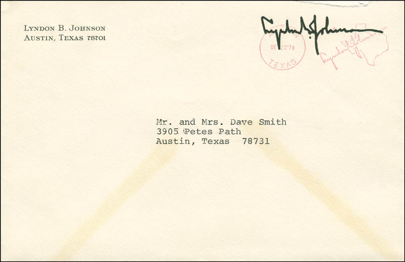 Image 3 for President Lyndon B. Johnson - Typed Letter Signed 12/22/1970 - HFSID 295813